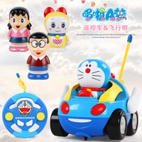 Wholesale Doraemon remote control toy car Baby boy electric remote control car toy children cartoon model toy car