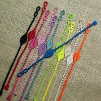 venda por atacado italian bracelet-Novo estilo de estilo italiano pulseiras renda para mulheres coloridos maus Turquia Olho do laço Pulseiras transporte livre
