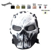 Wholesale Tactical Equipment Outdoor Shooting Sports Face Protection Gear Full Face Tactical Airsoft Cosplay Gost Skull Mask