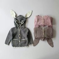 Wholesale Girls Sweater Christmas Kids Clothing Autumn Winter Cute Rabbit Ears Sweater Korean Fashion Long Sleeve Cardigan Sweater