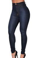 Wholesale 2016 New Fashion Jeans Women Pencil Pants Denim High Waist Jeans Sexy Slim Elastic Skinny Pants Trousers Fit Lady Jeans Plus Size E78638
