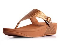 Wholesale Women s shoes leather weight toning shoes Comfortable flip flops pregnant women slippers summer slippers woven edge buckle