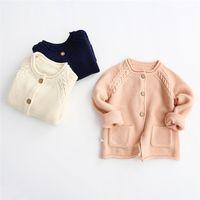Wholesale Girls Sweaters Cardigan High Quality Kids Clothing Sweater Coat Spring Crochet Cardigan Girl Dress Kids Sweaters Children