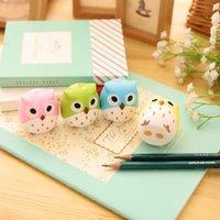 Wholesale Kawaii Owl Pencil Sharpener Novelty Pen Cutter Knife Promotional Gift Stationery