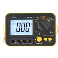 Wholesale Vici VICHY VC4105A Digital Earth Ground Resistance Tester Earth Voltmeter Ohmmeter K V w LCD Backlight