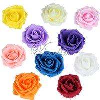 Wholesale 10Pcs cm PE Foam Rose Artificial Rose Flowers Heads for Wedding Home Decoration Party Favors DIY Scrapbook Gifts