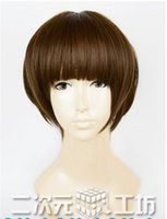 akane cosplay - gt Akane Tsunemori cosplay wig Brown cute pinkshop short wig