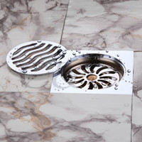 Wholesale Chrome Finish Copper Floor Drain Odor Removal Sink Grate Waste Silver Color X10 cm