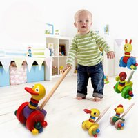 Wholesale New Arrival Baby Walkers Push Pull Toys Toddler Cartoon Animal Activity Walk Learning Tools JN0085