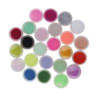 Wholesale 24 Color Acrylic Powder Dust Nail Art Decoration