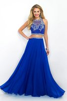 Wholesale Prom Dresses two piece evening dress Pure hand sewing beads Europe and the United States the royal style
