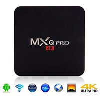 Wholesale MXQ Pro Android TV Box Amlogic S905 Quad Core Android G HDMI WIFI K i p Kodi Full Loaded Add Ons Set Top Box