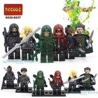 al toys - DC The Green Arrow Minifigures Malcolm Merlyn Arsenal Black Canary Deathstroke Ra s Al Ghul The Arrow Minifigures Blocks Toys
