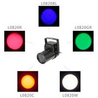 Wholesale LIXADA AC90 V W Mini LED Pinspot Spotlight Effect Stage Light Single Color Beam Lamp for Shop Bar Party Blind Corner DHL L0820