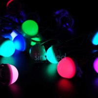 Wholesale 50pcs string WS2811 leds rgb pixels led strings modules SMD white milky cover DC12V mm diameter with RGB wire string lanyard