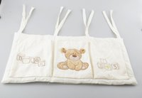 Wholesale Baby Bed Hanging Storage Bag Cotton Newborn Crib Organizer Toy Diaper Pocket for Crib Bedding Set Accessories BA36111126