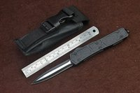ant bag - Microtech Ant Black Double Edge Blade camping tool pocket tool survival knife knives with nylon bag Scarab