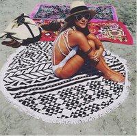 baby beach decor - Cotton Round Beach Towel cm Bath Towel Tassel Decor Geometric Printed Bath Towel Summer Swimwear Cover Ups Style CCA4454