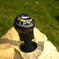 Wholesale Outdoor Camping Travelling Dash Mount Navigation Compass Car Guide Ball Compass With Suction