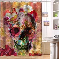 best curtain fabric - 2015 New arrive color skull Waterproof Polyester Fabric Bathroom Shower Curtain quot x quot bathroom decoration best gift for you