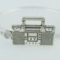 antique tape - 16176 Alloy Antique Silver Vintage Radio Tape Recorder Pendant Charm