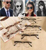 Wholesale 50PCS LJJH1348 unisex half frame Silver edge sunglasses Retro Vintage UV400 Sunglasses Glasses Fishing Drving Eyewear Shades sunglasses