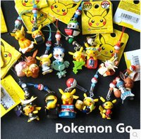 Wholesale Cartoon Pokeball Keychain Pendant Cellphone Strap Pikachu Figures Cute Charms Pikachu Movie Mini Figures Gift Toys Poke Ball Minifigures