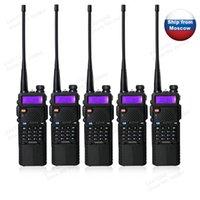 big bands radio - 5pcs BaoFeng UV R Portable Radio big battery mha Walkie Talkie Dual Band VHF amp UHF Mhz amp Mhz Two Way Radio