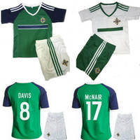 ireland - Northern ireland Kids eruo Soccer Jersey McNAIR home away DAVIS Northern ireland childrens soccer jersey football shirts