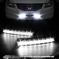 Wholesale 3Pair Super White LED High Bright White DRL Car Daytime Running Light Head Lamp Universal IP67 Waterproof Day Lights Running Head Lamp