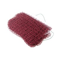 Wholesale 6 m m Outdoor Sports Professional Standard Portable Training Square Mesh Braided Badminton Net Dark Red