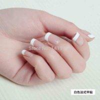 Wholesale 500PCS White French Nail Tips UV Gel Acrylic Fake Nail Sizes Artificial False Nail nail glue