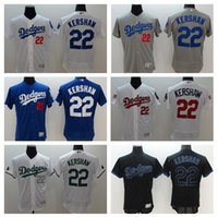 Wholesale New Flexbase Baseball Jerseys Dodgers Kershaw Jersey White Color Size Mix Order All Polyester Flexbase Jersey