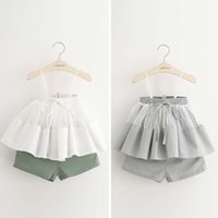 Wholesale Girl Dress Child Clothes Kids Clothing Girls Outfits Ruffle Girls Condole Belt Summer Shorts Children Set Kids Suit Outfits Ciao C23753