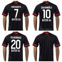 Wholesale Soccer Bayer Leverkusen Jersey Club Football Shirt CALHANOGLU CHICHARITO CH ARANGUIZ Road Away Navy Blue Custom Kits Foot Tshirt