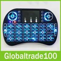 air keyboard remote - 2016 New Fly Air Mouse G Mini i8 Wireless Keyboard With Backlight Red Green Blue Remote Controlers For MXQ M8S MiniX Neo