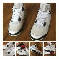 Wholesale Drop Shipping Carbon Fiber New Retro IV OG White Black Cement Sneaker Men s Sports Basketball Shoes Sports shoe4 s