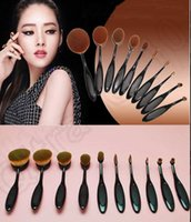 Wholesale KKA153 set Beauty Toothbrush Shaped Foundation Power Makeup Oval Cream Puff Brushes Foundation Kit Beauty Brush Tool sets