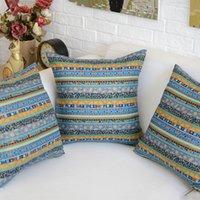 Wholesale Ethnic Style Cotton Linen Geometric Cushion Cover Decorative Pillow Case Home Decor Capa Para Almofada Cojines Decorativos