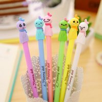Wholesale Cute Smile Sunny Doll Gel pens For writing mm black ink pen set Kawaii Stationery Office School Supplies Canetas