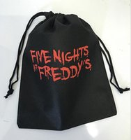 Wholesale DHL Free New FNAF bags five nights at freddy s toys bag Storage bag five nights at freddy bag