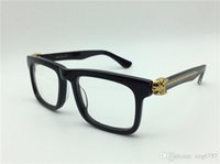 Wholesale Solid Plastic Frame - new retro glasses Prescription ca0038 square frame leopard animal legs optical for men design clear glass vintage style gold legs