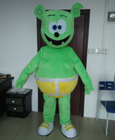 gummy bear - 0524 high quality adult smart gummy green bear mascot costume with mini fan inside the head for sale