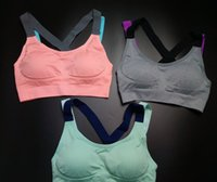 Wholesale The latest Yoga Outfits color cross back sports bar professional yoga sports bra with shock absorption free ring for female