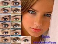 Wholesale fresh hot sale box color contact lens Color fresh cosmetic color lenses pack colors luxury lens yearly using contact lenses