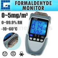 HCH-22 Détecteur de gaz Moniteur léger Formaldéhyde HCHO Hygromètre Thermomètre Appareil avec rétroéclairage et auto ON / OFF