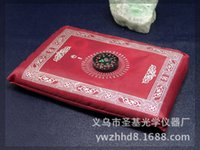 Wholesale islamic travel pocket prayer mat with compass muslim prayer rug mix colors foldable size cm ZD092
