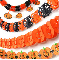 Wholesale Fashion New Halloween Decoration Skeleton Pumpkin Witch Skull Garland Halloween Bar Party Stage Set Suppliers