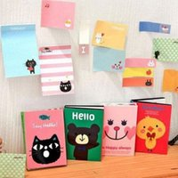 Wholesale Cute Sticky Notes Cartoon Sticker Paste Bookmark Point It Marker Memo Flags E00107 BAR