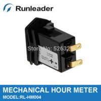 Wholesale Mechanical Hour Meter for Diesel Engines Mower Boat farm machinery garden machine RL HM004 DC12 V meter oil meter detector